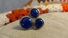 "Himilayan Gems Lapis 1-1/4""x1"" Sterling Ring Size 10"