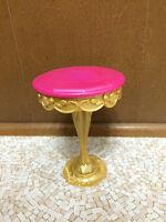 Barbie The Diamond Castle Princess Pink Gold Pedestal Table Dine Room Furniture