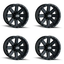 "Set 4 20"" Ion 134 Black Beadlock Wheels 20x9 8x170 0mm Ford F250 F350 8 Lug Rims"