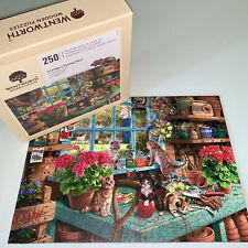 WENTWORTH Wooden Puzzle Grandpa's Potting Garden Shed Cats Steve Read Liberty