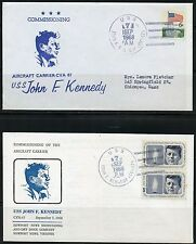 UNITED STATES SEP 7,1968  TWO  COMMISSIONING COVERS OF THE U.S.S JOHN F. KENNEDY