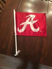 University of Alabama Crimson Tide Car Flag With Alabama A Logo