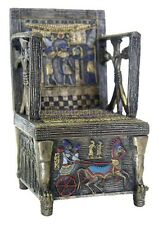 Egyptian Throne Jewelry Box #2-Hand Painted Detail- Magnetic Secret Compartment