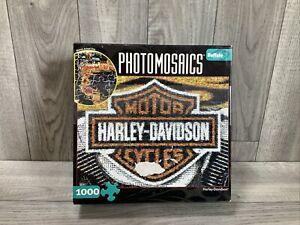 Photomosaics Puzzle - Harley Davidson - Buffalo Games 1000 Pieces- New-Sealed