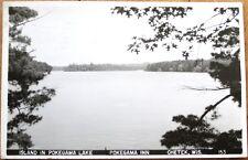 1953 Chetek, WI Realphoto Postcard: Island in Pokegama Lake - Wisconsin
