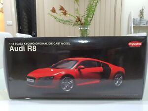KYOSHO 1:18 AUDI R8 (RED) DIE-CAST MODEL CAR 09213R DIECAST