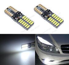 4Pcs 24SMD Bright White LED Error Free Eyebrow Eyelid Light For Benz W204 C300
