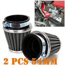 Motorcycle Cafe Racer 54mm High Flow Tapered Chrome Pod Air Filter Cleaner @