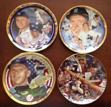 4 Mickey Mantle Yankees Hamilton Collection Collectors Plate