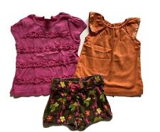 GYMBOREE Outfit SHIRT Shorts 3T Lot Set Summer Jungle Pink Orange READ