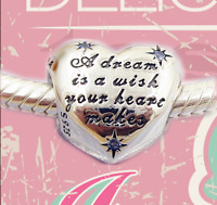 Authentic Pandora Silver 💖Charm Bead #791593clf Cinderella's Dream Disney new