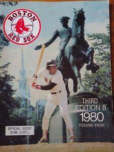 Baseball Program Boston Red Sox 1980 Third Edition B vs Orioles in September