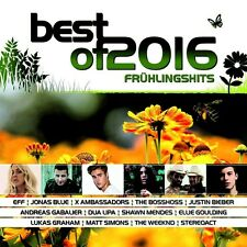 Best of 2016-Primavera Hits 2 CD NUOVO Sigala/Ellie Goulding/Justin Bieber/+