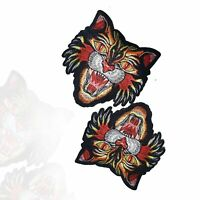 Embroidered Cat Tiger Patch Applique Sew on Tiger Tiger Head Patch Gucci Style