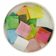 "Mosaic Supplies - 3/4"" Iridized Stained Glass Chip Assortment - 48 Pieces"