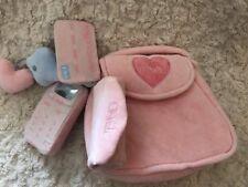 FAO Schwarz Girls Pink Fleece Toy Purse Cellphone Lipstick Keys Credit Cars