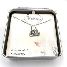 Disney Princess Tiara Stainless Steel Necklace NIB
