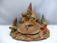 Tom Clark 7 Up Gang on a Turtle 1990s Gnome Figurine