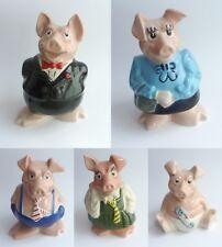 Natwest Ceramic Pigs Piggy Bank - WADE Pottery - Full Set of 5 VGC