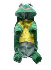 Outdoor Pet Cat Or Dog Raincoat Waterproof Hooded Jacket Rain Coat SMALL 🐸