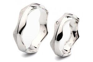 925 Silber Trauringe: Partnerringe Eheringe m. Zirkonia