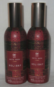 White Barn Bath & Body Works Concentrated Room Spray HOLIDAY Lot Set of 2