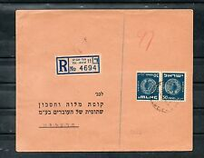 Israel Scott #21 Coins Tete Beche Pair on Bank Cover!!