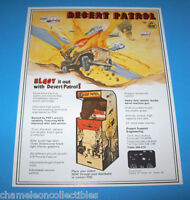 DESERT PATROL By PSE 1977 ORIGINAL VIDEO ARCADE GAME PROMO SALES FLYER