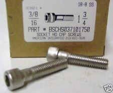 3/8-16x1-3/4 Hex Socket Head Cap Screws Stainless Steel (4)