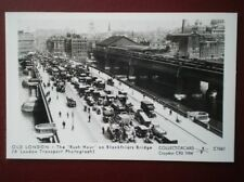 POSTCARD LONDON RUSH HOUR ON BLACKFRIARS BRIDGE