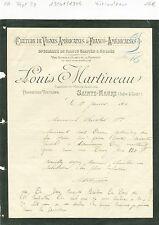 Dépt 37 - Sainte Maure - Louis Martineau Propriétaire Viticulteur - 19/01/1904