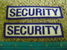 2 SECURITY PATCHES DNR,MNR,POLICE,SPORTS EVENTS,,HUNTING,PARKS,GUARD,OFFICER