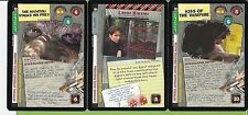 X-Files Ccg 4-Rares Cards Xf96 # 0354v1-0352v1-0104v1