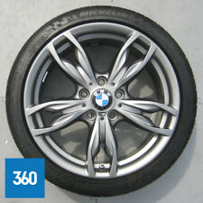 "1 x DELIVERY MILEAGE GENUINE BMW 1 2 SERIES 18"" M SPORT 436 5 SPOKE FRONT ALLOY"