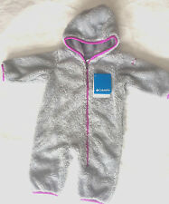 Columbia Infant Girls Flurries EXS Bunting Fleece Suit Grey Sz 3-6 Months NWT