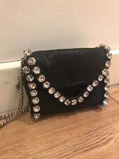 b9a272664cc4 New listingStella McCartney Black Tiny Folder Falabella Bag with Large  Crystals. BNWT.