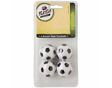 Fat Cat Black & White Engraved Foosballs Foos Balls Soccer Table (Set of 4)