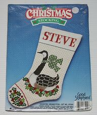 GOOD SHEPHERD CANADA GOOSE CHRISTMAS STOCKING CROSS STITCH KIT NEW SEALED 1988