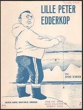 DANISH sheet music LILLE PETER EDDERKOP Copenhagen, Denmark SPIDER YO-YO 1948