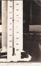 RP; Thermometer -75F at WHITE RIVER , Ontario , Canada , 1920s