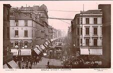 RPPC,Glasgow,Scotland,U.K.Argyle Street,Trolley Cars,Advertising Signage,c.1909