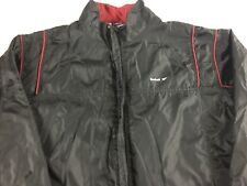 Reebok Windbreaker Jacket VTG 90s Womens Large Black Red Lined Fitness Running