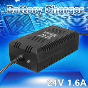 24V 1.6 A Batterie Ladegerät Scooter Akku Adapter Netzteil Elektro Roller Bikes