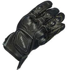 Gants noirs en cuir, taille S pour motocyclette