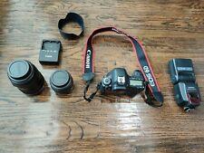 Canon 6D 20.2 MP Camera with EF  USM 24-105mm Lens + 50mm f1.4 Lens + Flash