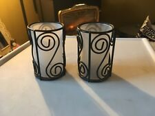 """Wrought iron candle holders ~ 4.5 """""""