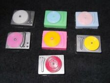 BARBIE KEN DOLL HOUSE MUSIC ACCESS - 7 VINTAGE RECORD PLAYERS w/ RECORDS
