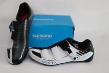 New Shimano Men's SH-R171W Road Bike Shoes EU 42 8.5 White SPD-SL 3 Bolt Carbon