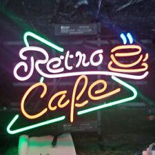 "Retro Cafe Coffee Neon Light Sign 24""x20"" Beer Bar Decor Lamp Glass"