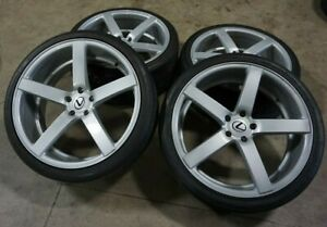 "22"" 22x9 +20 22x10.5 +25 5x120 Vossen Gray Wheels Rims Nitto Tires Lexus BMW"